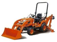 Kabota mini Loader Backhoe and operator for hire