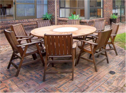 Kwila 9 piece outdoor setting