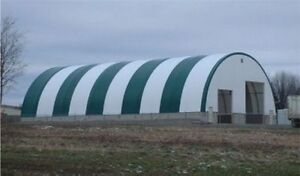 Large Heavy-Duty Dome Wall Fabric Storage Buildings – Any Size
