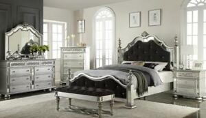 Sale on 6pcs. QueenTufted Crystal Contemporary  Bedroom Set (GL2003)