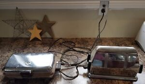 Antique toaster and waffle maker for sale