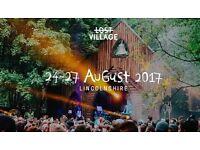 2 x LOST VILLAGE WEEKEND FESTIVAL TICKET 24-27TH AUG 2017