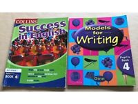 2 books-Models for Writing Book 4 & Success in English Book 4 For Year 4/ P5. Ages 9 to 11