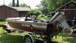 16.5' Lund fishing boat with 50hp Johnson- Reduced by $1000.00