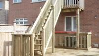 DECK FENCE WOOD STAIRS Brampton Mississauga