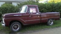 FOR SALE 1964 FORD F-100 SHORTBOX PICK-UP TRUCK RUNS AND DRIVE G