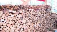 Firewood dry split pine