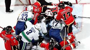 Calgary Flames vs. Vancouver Canucks - SEC 223 - PRE SEASON