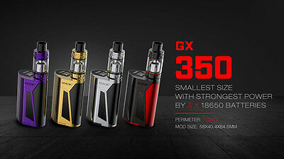 100% Authentic SMOK GX350 Kit ( With TFV8 Tank ) - black red combo - USA stock
