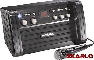 Insignia-NS-KP01-CD-G-Portable-Karaoke-Machine-Mic-bundle-set-tv-cdr-cdrw