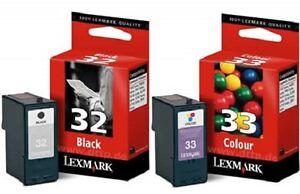 Lexmark 32 Black 18C0032 + Lexmark 33 Colour 18C0033