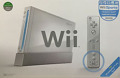 Nintendo Wii White Console  Ntsc    Rvl 001   With Gamecube Ports