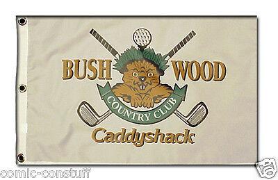 Caddyshack Bushwood Country Club Gopher logo golf 12x20 inch pin flag MINT NEW