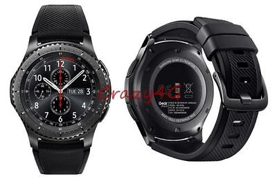 New Samsung Galaxy Gear S3 frontier 46mm Stainless Steel case Sport Band SM-R760