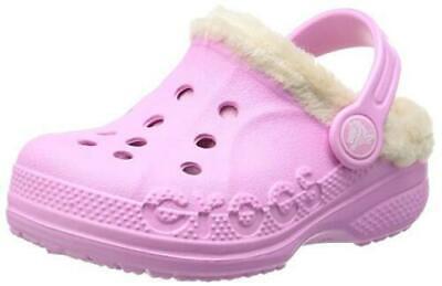 Crocs Kids Faux Fur Lined Clogs Toddler Size 6 Waterproof Winter Girl Shoes
