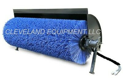 New 84 Hydraulic Angle Broom Attachment Skid Steer Loader Power Street Sweeper