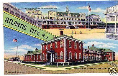 Atlantic City NJ Children's Homes linen postcard unused (Kids Atlantic City)