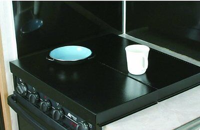 Camco RV Motorhome Universal Fit Stove Top Cover Runabout camper Trailer Black