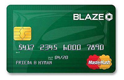 Stink Sack XXS Masterkush Smell Proof Bags x2 or x10 Blaze Credit Card Stinksack - Blaze Card