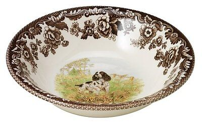 Spode Woodland Hunting Dogs English Springer Spaniel Cereal Bowl, 20cm, New, Fre