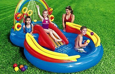 Inflatable Water Slide Outdoor Pool Play Kids Fun Backyard Toys Summer Park New