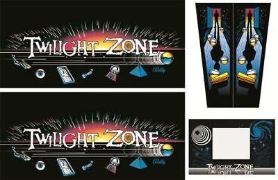 TWILIGHT ZONE Pinball Machine Cabinet Decals Limited QTY - NEXT GEN