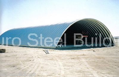 Durospan Steel 51x100x17 Metal Quonset Hut Farm Building Kit Open Ends Direct