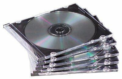 Book Fold Plastic Clear Cd - Fellowes Thin Cd/dvd Case - Book Fold - Plastic - Clear, Black - 1 Cd/dvd