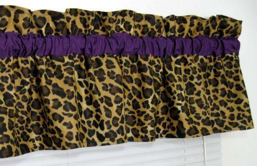 Leopard Valance Ebay