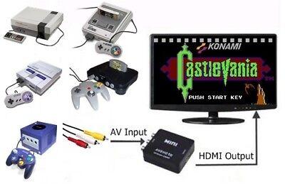 Used, RCA AV To HDMI HDTV Converter For Nintendo NES SNES Super Famicom N64 Gamecube for sale  Shipping to India