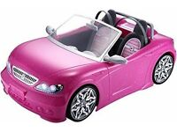NEW - Barbie Glam Convertible Car Maliby Kids Girls Toys