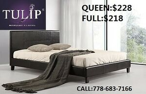 PU LEATHER PLATFORM NEW BED!Truckload Sale@sizes: Full Queen