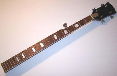 Deluxe Banjo Neck 5-String Long Scale Harmony Pearl Block Inlays Abalone ZB5DLX