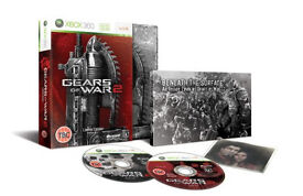 Xbox 360 game gears of war 2 (limited edition) with book/gears of war limited edition bonus disc