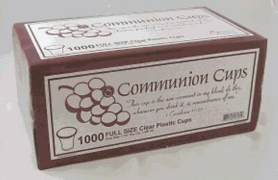 "Disposable Communion Cups Box of 1000 (Swanson) 1 3/8"" High Brand New"