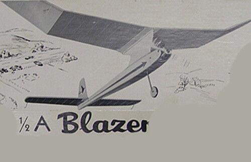 Details about Model Airplane Plans (FF): 1/2A BLAZER 42