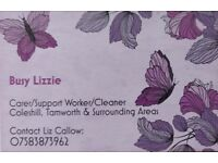 Busy Lizzie - Carer/Cleaner/Support Worker - Help around the house!