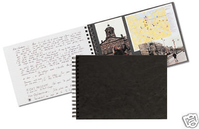 Clairefontaine Journal Photo Album Black Wirebound Travel Journal (C781161)