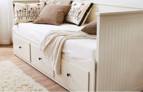 Hardly used Ikea Hemnes Daybed + Malvik mattresses. Single, King or Couch. Huge storage drawers.