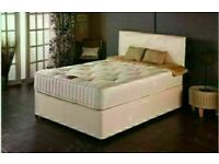 🔵💖🔴SAME DAY DELIVERY 🔵💖🔴Double Divan Bed with Orthopedic mattress Single & King also