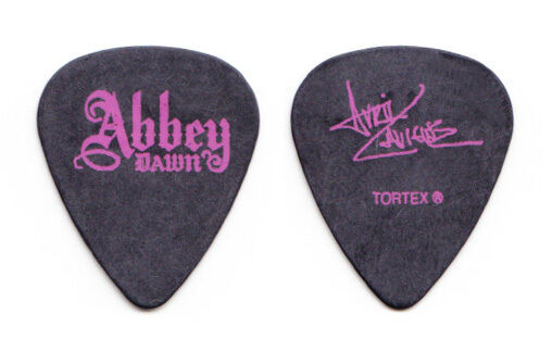 Avril Lavigne Signature Black Abbey Dawn Guitar Pick - 2011 Tour