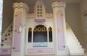 LILAC CASTLE Bunk Bed / Loft bed & Play House -- ♥‿♥