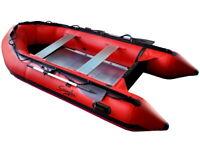 13' Inflatable Boat Aluminum Floor Aluminum Transom 4 Person Professional Heavy