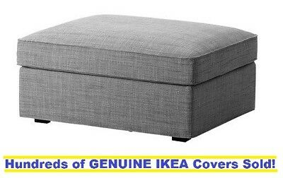 Ikea Kivik Footstool With Storage Ottoman Cover Slipcover Isunda Gray New Sealed