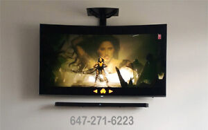 LED-LCD-Curve TV Wall Mounting & Neat Fast Installation