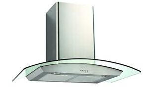 Ducted Wall & Ceiling Mount Range Hood with Tempered Glass Viso