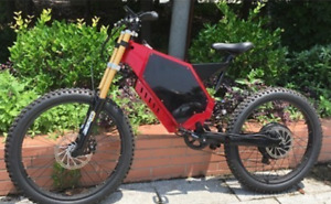 3000 watt 65KMH Electric mountain bike full suspension brand new