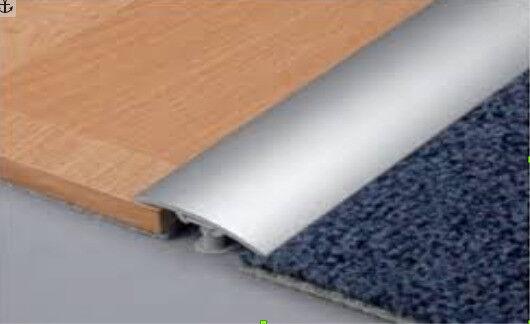 New 2x2 7m Aluminium Silver Threshold Strips Door Bars Transition Laminate To Carpet Tiles