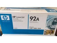 GENUINE HP Color Laserjet Printer BLACK Toner Cartridge (92A) Sealed in box