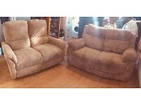 Jumbo cord sofa x2 RECLINER